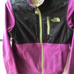 The Northface purple jacket for girls